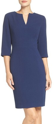 Adrianna Papell Split Neck Sheath Dress $120 thestylecure.com