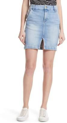 Frame Body-Con Denim Miniskirt