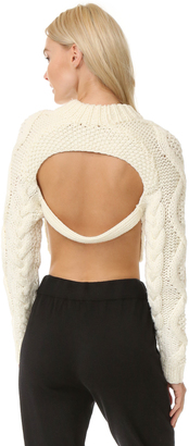 DKNY Cropped Pullover with Open Back $498 thestylecure.com