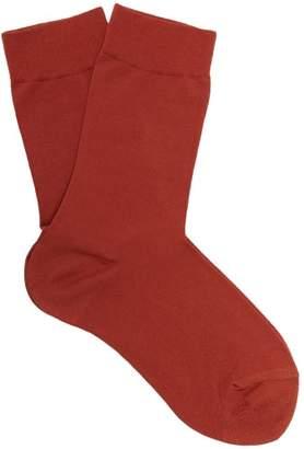 Falke Touch Cotton Blend Socks - Womens - Dark Red