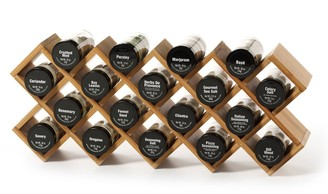 Kamenstein Bamboo Criss-Cross 18-Jar Spice Rack