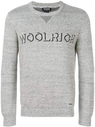Woolrich logo intarsia-knit sweater