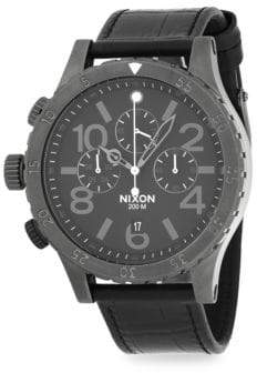 Nixon Stainless Steel Chronograph Watch