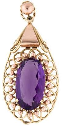 14K Wire Wrapped Amethyst Pendant