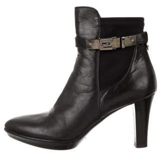 Aquatalia Leather Ankle Boots Black Leather Ankle Boots