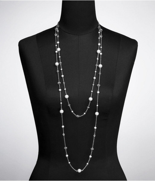 Express Nested Pearl And Bead Necklace