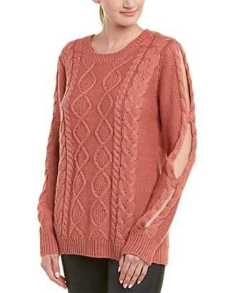 Jack by BB Dakota Junior's Wanna Spoon Cable Knit Sweater Wih Sleeve Cutouts
