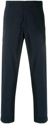 Paolo Pecora cropped turn-up trousers