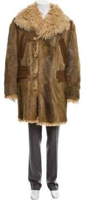 Gucci Mongolian-Trimmed Fur Coat