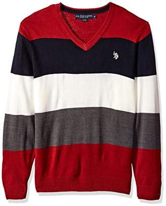 U.S. Polo Assn. Men's Vee Neck Stripe Acrylic