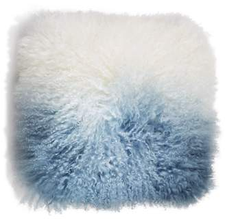 "Eightmood Fuyu Dip-Dyed Fur Decorative Pillow, 16"" x 16"""