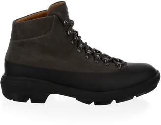 Aquatalia Murphy Perforated Leather Sneaker Boots