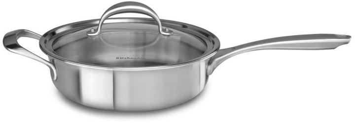 KitchenAid 3.5-qt. Stainless Steel Copper Core Saute Pan with Helper Handle and Lid