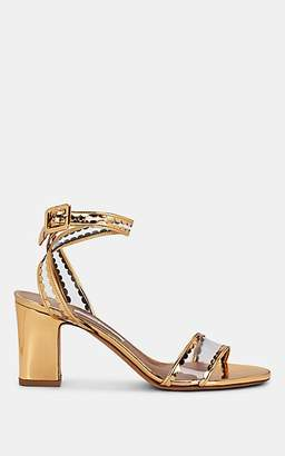 Tabitha Simmons Women's Leticia Frill Leather & PVC Sandals - Gold