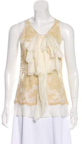 Robert Rodriguez Sleeveless Lace Top