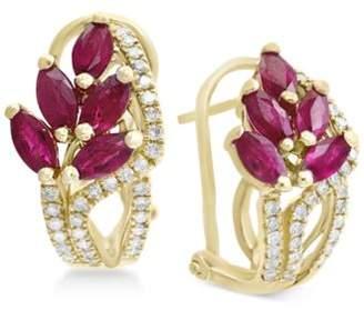 Effy Amoré by Certified Ruby (2-1/5 ct. t.w.) & Diamond (1/3 ct. t.w.) Drop Earrings in 14k Gold