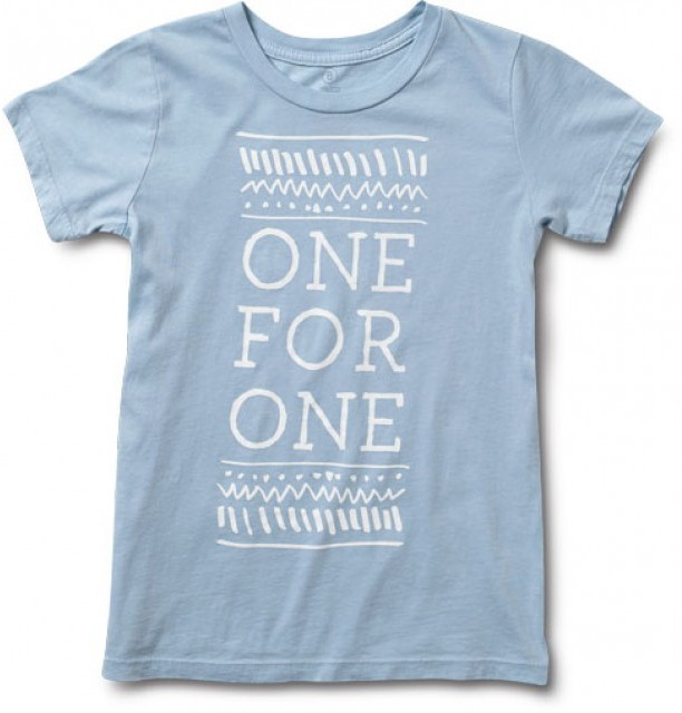 Toms Youth village white tee