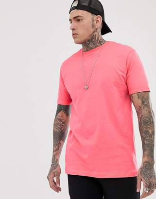 Bershka Join Life loose fit t-shirt in bright pink