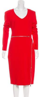 Tom Ford Zipper-Accented Midi Dress
