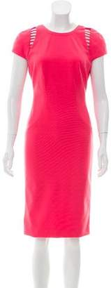 Versace Cutout-Accent Sleeveless Knee-Length Dress