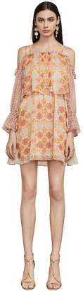 BCBGMAXAZRIA Dimitri Terracotta Tapestry Dress
