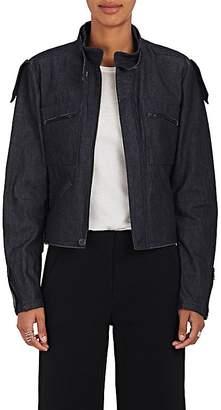 Yohji Yamamoto Regulation Women's Belted-Collar Denim Jacket