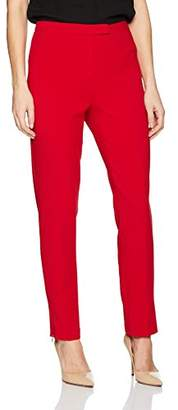 Ellen Tracy Women's Zip Ankle Slim Trouser