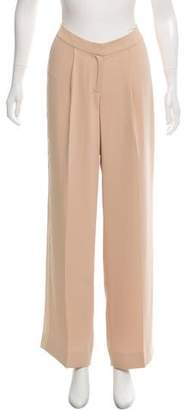 Magaschoni Silk Panel Mid-Rise Pants