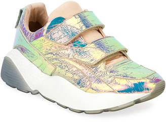 Stella McCartney Prisma Grip-Strap Multicolor Sneakers