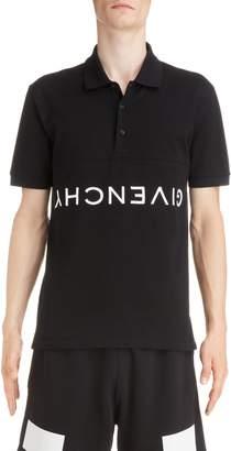 Givenchy Upside Down Logo Pique Polo