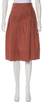 Marni A-Line Gathered Skirt Coral A-Line Gathered Skirt
