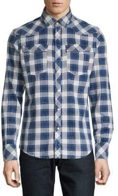 G Star Plaid Long-Sleeve Button-Down Shirt