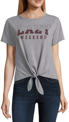 Fifth Sun Lazy Weekend Tie Front Tee - Junior