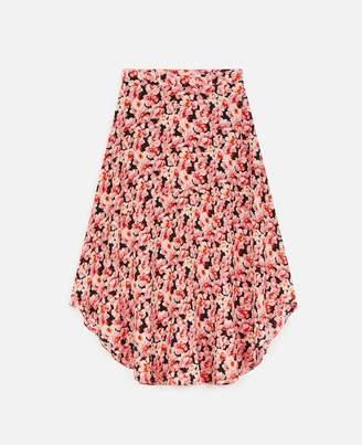 Stella McCartney Silk Blossom Print Skirt, Women's