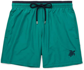 Vilebrequin Mokami Slim-Fit Mid-Length Embroidered Swim Shorts - Teal