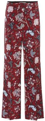 Diane von Furstenberg High-waisted silk-blend trousers