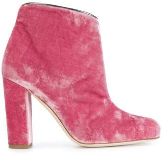 Malone Souliers Eula velvet ankle boots