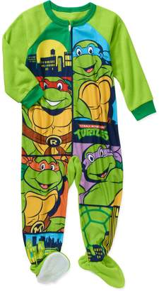 Nickelodeon TMNT Toddler Little Boys Footed Blanket Sleeper Pajama (T)