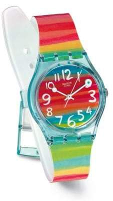 Swatch Color The Sky Plastic Strap Watch