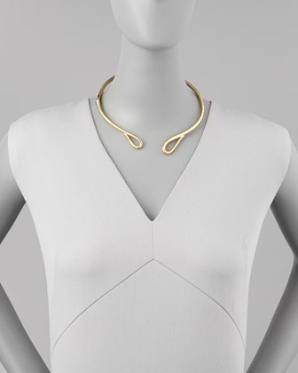 Alexis Bittar Miss Havisham Hinged Infinity Collar Necklace