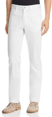 Emporio Armani Straight Fit Five-Pocket Jeans in White