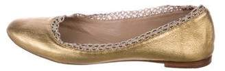 Chloé Metallic Leather Flats