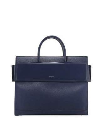 Givenchy Horizon Medium Textured Leather Tote Bag, Dark Blue