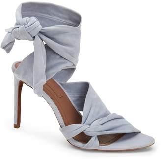 BCBGMAXAZRIA Emma Knotted Suede Dress Sandal