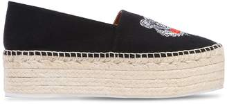 Kenzo 60mm Tiger Cotton Canvas Espadrilles
