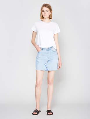 RE/DONE X Levis High Waist Denim Skirt - Blue