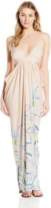 Mara Hoffman Women's Cut Out Draped Maxi Cover Up Dress