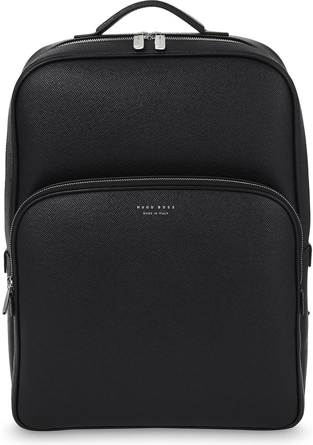 Hugo BossHugo Boss Signature leather backpack