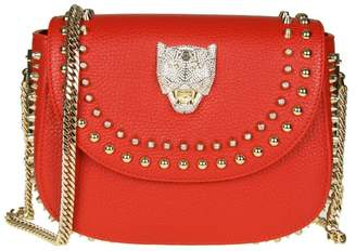 Philipp Plein Shoulder Bag joanna In Hammered Leather Color Red