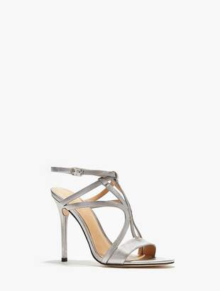Halston Karla Metallic Leather High Heel Sandal